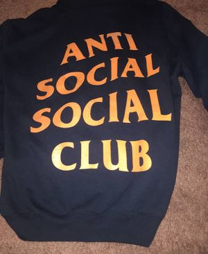 Anti social social club hoodie assc size medium fits more like a small for Sale in Springfield, VA