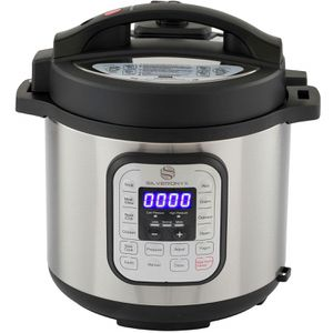 10-in-1 Programmable Pressure Cooker 6 Quarts with Stainless Steel Pot, Steamer & Warmer. Pressure Cook, Slow Cook, Sauté, Rice Cooker, Yogurt Maker for Sale in Riverside, CA