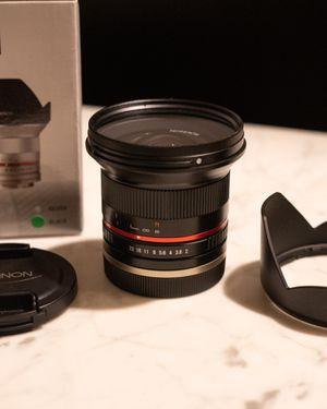 Rokinon 12mm Sony E mount F2.0 Ultra Wide Angle Lens for Sale in Cornelius, NC