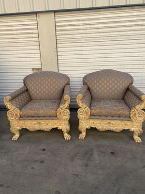 2 armchairs 2 end tables 1 coffee table real marble for Sale in Visalia, CA