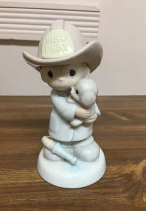 """Precious Moments """"Love Rescued Me"""" Figurine #102393 Fire Firefighter Fireman for Sale in Staten Island, NY"""