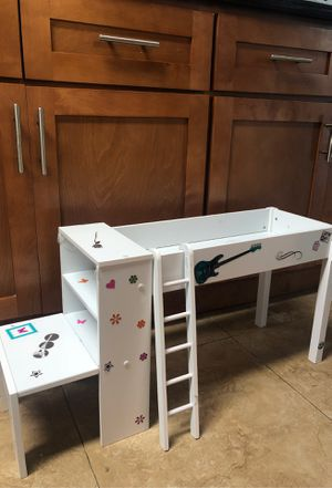 American Girl Doll decorated two piece Bed + Desk for Sale in Miami, FL
