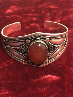 Silver bracelet with brown stone for Sale in Dallas, TX