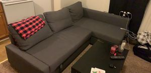 Couch with pull out bed and storage for Sale in Detroit, MI