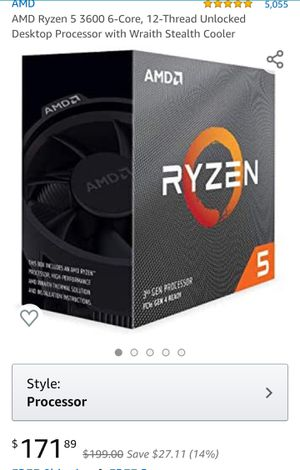 (Brand New)Amd Ryzen 5 3600 Cpu for Sale in West Columbia, SC