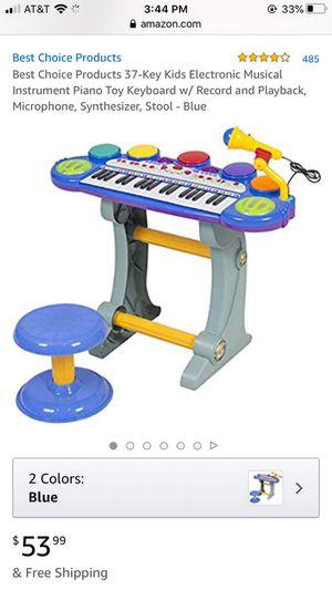 Kids electronic keyboard blue for Sale in Phoenix, AZ
