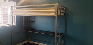 Loft bunk bed with desk for Sale in Modesto, CA