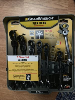 Gearwrench flex head 7 piece ratcheting wrenches for Sale in Williamsport, PA