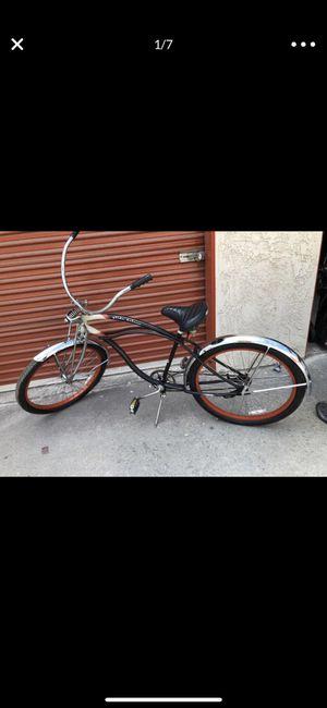 Beach Cruiser Springer front Chrome fenders Retro bike for Sale in San Bernardino, CA