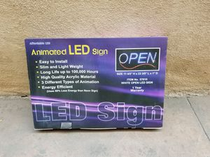 Animated LED Open Sign for Sale in Redondo Beach, CA