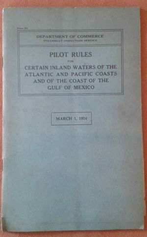 Department of Commerce 1924 Booklet on Steamboat Pilot Navigation Rules for Sale in Orlando, FL
