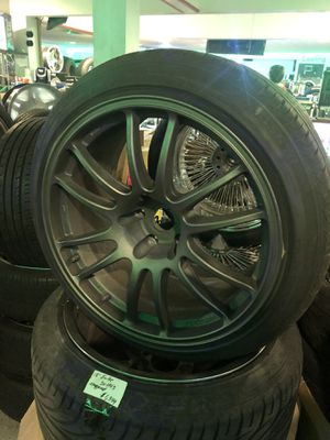 Enkei 18 inch $1299 was $1399 5x114.3 wheels staggered Ford Chevy Pontiac Kia Dodge Infiniti Lexus for Sale in Indianapolis, IN
