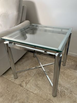 Glass and Chrome End Table for Sale in Scottsdale, AZ