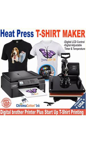 T shirt making -Brother printer + heat press bundle for Sale in Buckeye, AZ