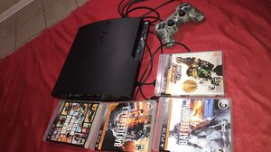 ps3 500 gb , controller and 4 games for Sale in Okeechobee, FL