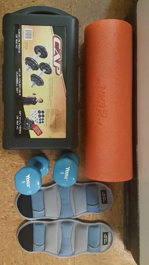 Exercise Equipment Dumbbells, Leg weights, Foam Roller for Sale in Grandview Heights, OH