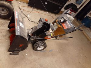 Valid Machine Snow Blower, Air Compressor, and Us General Tool Box and Toro Ride mower for Sale in Lorain, OH