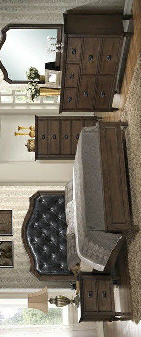 🍃the price is nice🍃Bianca Brown Panel Bedroom Set | B565 for Sale in Jessup, MD