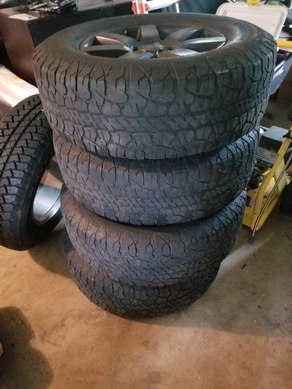 4 x Jeep Black Rims & Tires