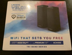 Linksys Velop Tri-band AC4400 whole home WiFi router (2 pack) for Sale in West Carson, CA