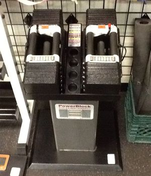 PowerBlock 180lb Adjustable Dumbbell Set with Stand for Sale in Phoenix, AZ