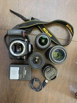 Nikon D3300 Bundle + AF NIKKOR 50mm f/1.8D & AF NIKKOR 20mm f/2.8 AF Lenses for Sale in South San Francisco, CA