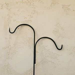 Large Double Wrought Iron Metal Shephard Plant Hook For Hanging Potted Plants - Approx 6' Tall for Sale in Goodyear, AZ
