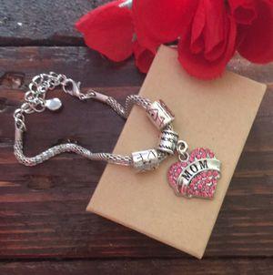 Pink MOM heart love bracelet for Sale in Denver, CO