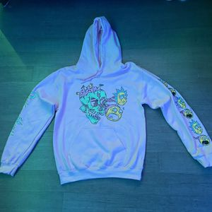 Pink Rick And Morty Hoodie Size Small Mens for Sale in East Meadow, NY