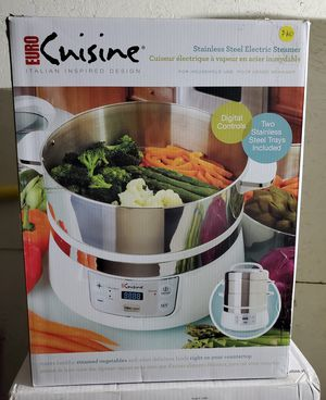 New stainless steel electric steamer for Sale in Riverside, CA