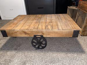 Rustic wagon coffee table for Sale in Ellinwood, KS