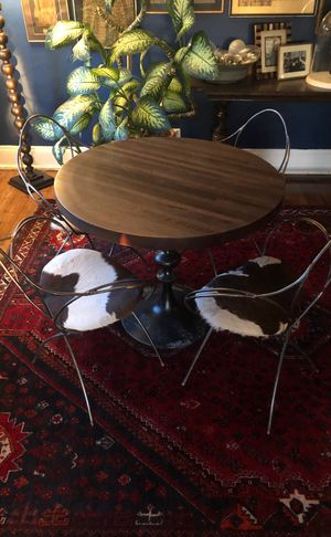 Vintage Dining Table and 4 chairs-one of a kind for Sale in Cleveland, OH