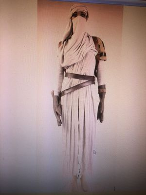 Star Wars 7 the force awakens daisy Ridley Rey uniform cosplay costumes gown outfit size large for Sale for sale  Los Angeles, CA