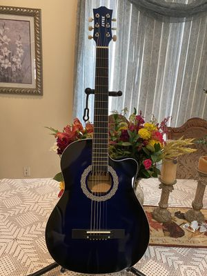 blue fever 38 inches fever classic acoustic guitar with metal strings for Sale in Bell, CA