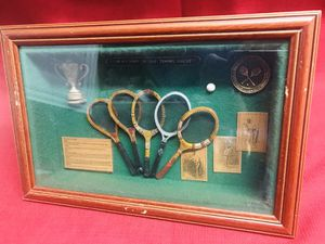 """Vintage Antique Style Picture Wall Hanging Shadow Box History Of Tennis Rackets 8 1/2"""" x 12 3/4"""" x 2 1/4"""" for Sale in Las Vegas, NV"""