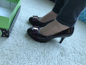 Super Cute Burgundy Purple Pumps Heels by Kelly & Katie 7.5w for Sale in Chicago, IL