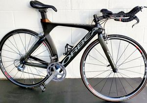 FULL CARBON TRIATHLON ORBEA ORDU 52cm frame 10 speed. Shimano ultegra , look clips pedals and DURA-ACE components . racing bike. for Sale in Tampa, FL