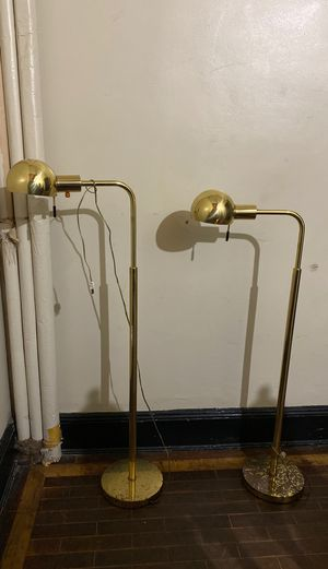 Vintage brass lamps (need rewiring) for Sale in Brooklyn, NY