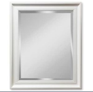 Gardner Glass Products 32-in L x 26-in W White Beveled Wall Mirror🔥🔥🔥 for Sale in Houston, TX