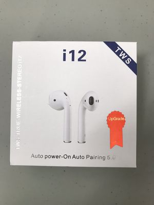 Brand New Model TWS i12 Bluetooth Stereo Headphones Auto Pairing for Sale in Hollywood, FL