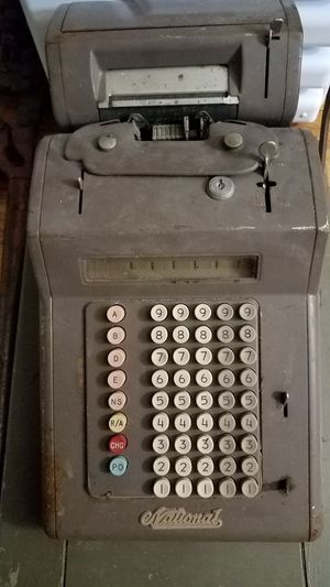 Antique National Adding Cash Register Machine w/ Receipt Printer for Sale in West Columbia, SC