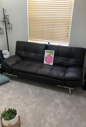 Leather Futon Couch for Sale in Lake Worth, FL