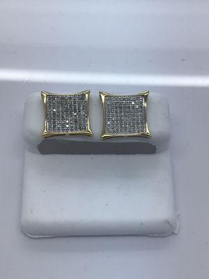 10k yellow gold earrings .50 carat diamonds new for Sale in Renton, WA
