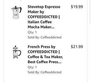 French Press and Stovetop Espresso Maker for Sale in Houston, TX