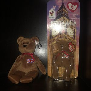 Britannia the bear. McDonald's version and retired from Britain for Sale in San Diego, CA