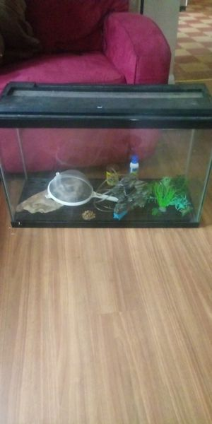 30 gal tan with some accessories for Sale in Lancaster, OH