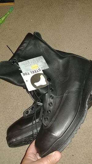 Belleville full leather 8 in Gore-Tex lining size 12 steel toe boots for Sale in San Diego, CA