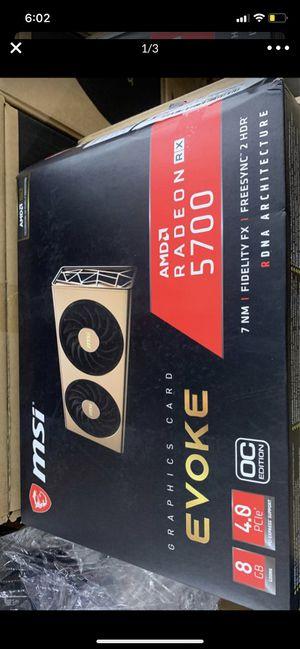 MSI Radeon RX 5700 DirectX 12 RX 5700 EVOKE OC 8GB 256-Bit GDDR6 PCI Express 4.0 HDCP Ready CrossFireX Support Video card for Sale in Anaheim, CA