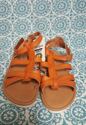 Cat and jack toddler girl sandals size 12 for Sale in Orlando, FL