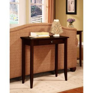 Rosewood Console Table, Coffee Brown description:Medium coffee finish Solid wood and wood veneer construction Easy to assemble Accent console table P for Sale in Bellaire, TX